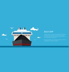 Banner with bulk ship vector