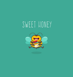 bee cartoon vector image