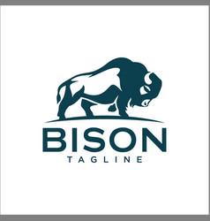 Bison logo templates vector