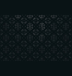 black floral ornament exquisite background vector image