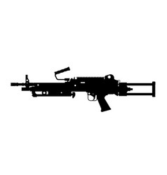 black silhouette of machine gun vector image