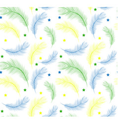 Brazil carnival seamless pattern with feathers vector