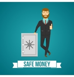 Businessperson And Safe Design vector