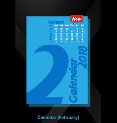 calendar ui february image vector image
