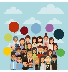 cartoon young people vector image