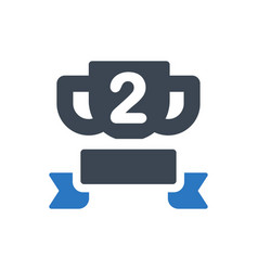 champion trophy icon vector image