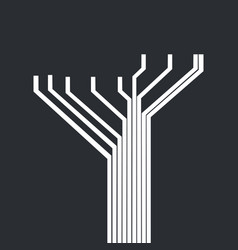 Circuit tree futuristic concept vector