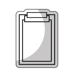 clipboard documents isolated icon vector image