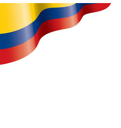 Colombia flag on a white vector