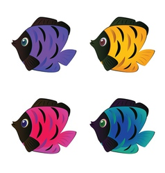 Colorful Fishes2 vector image