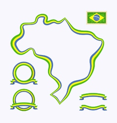 Colors of Brazil vector image