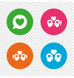 couple love icon lesbian and gay lovers signs vector image
