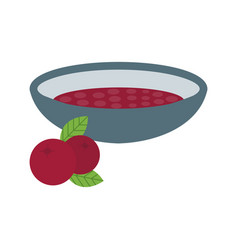 Cranberry sauce vector