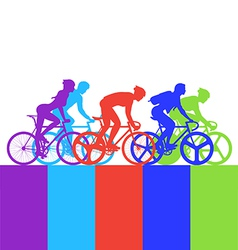 Cyclist in the bicycle race vector image