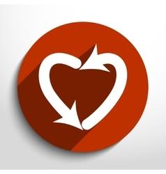 Dating arrow web icon vector