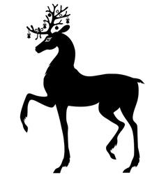 Decorated deer vector