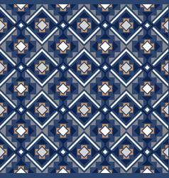 decorative geometric pattern in blue vector image