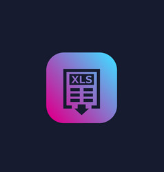 download xls document icon vector image