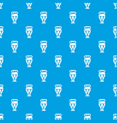 egyptian vase pattern seamless blue vector image