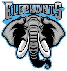 Elephant head mascot vector