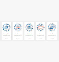 five vertical banners - personal files vector image