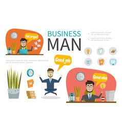 flat business people template vector image