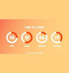 Flip countdown clock counter timer vector