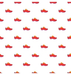 Football boots pattern cartoon style vector