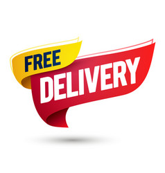 Free delivery flag vector