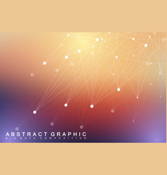geometric graphic background molecule and vector image