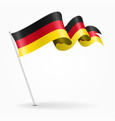 German pin wavy flag vector