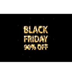 Gold shining text black friday on dark background vector