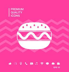 Hamburger or cheeseburger icon vector