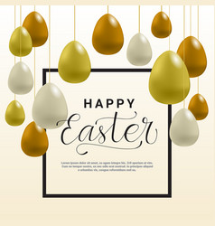 happy easter background template card vector image