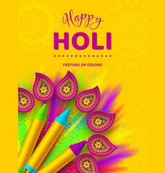 Happy holi colorful design for festival of colors vector