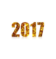 happy new year 2017 on a white background vector image
