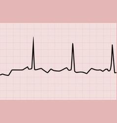 Heart line graph vector