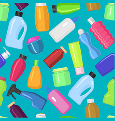 household bottles cleaning tidying up vector image