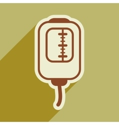 Icon of blood transfusion in flat style vector