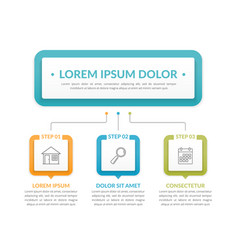 infographic template with 3 steps vector image