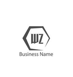 Initial letter wz logo template design vector