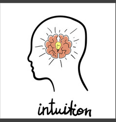 intuition abstract concept vector image