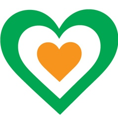 Irish heart vector