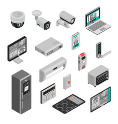 Isometric smart home set vector