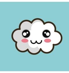 kawaii cloud happy design vector image