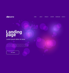 landing page design vector image