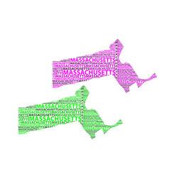 map of massachusetts vector image