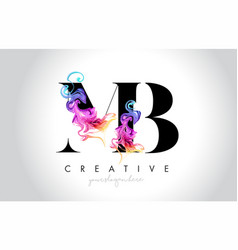 Mb vibrant creative leter logo design vector