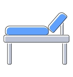 Medical bed icon flat style vector