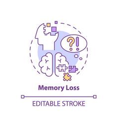 Memory loss concept icon vector